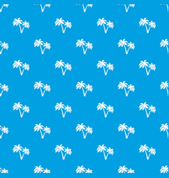 two palms pattern seamless blue vector image