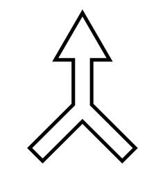 Unite Arrow Up Contour Icon vector