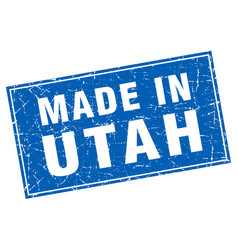 Utah blue square grunge made in stamp vector