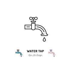 water tap icon plumbing symbol thin line vector image