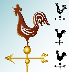 Weather vane set vector image