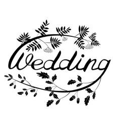 Wedding hand lettering vector