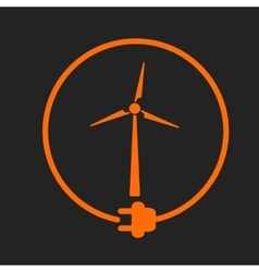 Windmill as energy source vector image