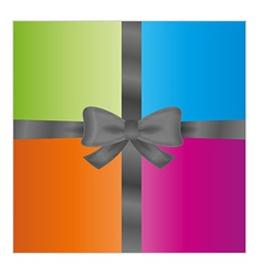 Wrapped gift or gift card vector