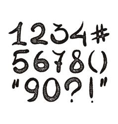alphabet Hand drawn digits vector image