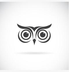 an owl face design on white background bird logo vector image