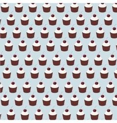 cupcake pattern seamless vector image