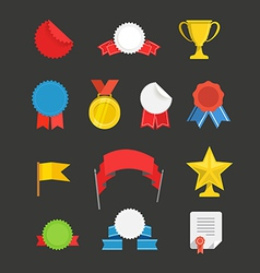 Different events flat icons set vector image