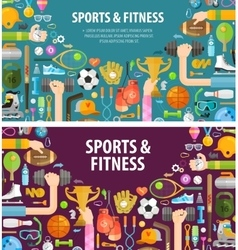 fitness logo design template sportsman or vector image