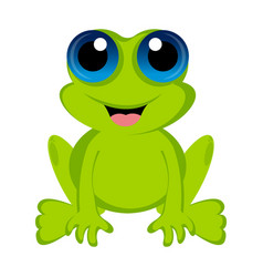 isolated cute frog vector image vector image