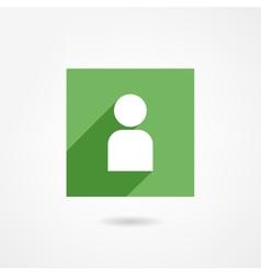Man icon vector image vector image