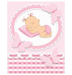 Sleeping baby girl vector image vector image