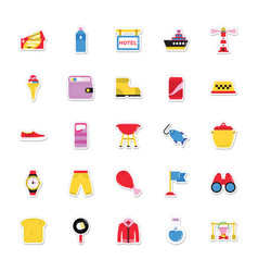 summer and holidays icons 16 vector image