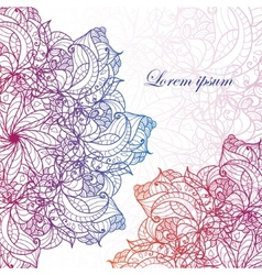 abstract invitation card vector image vector image
