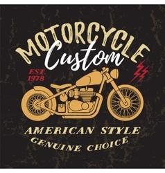 Custom Motorcycle Print vector image vector image