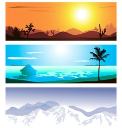 Geographical Backdrop Set vector image