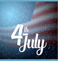 Happy the 4th of july america flag vector