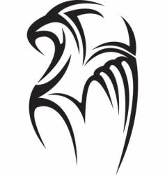 Hawk tattoo vector
