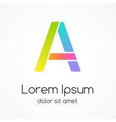 Logo letter A company design template vector image