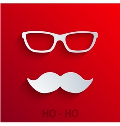 modern concept santa claus icon on red vector image vector image