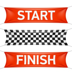 Starting and finishing lines banners vector image vector image