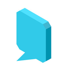 Empty square blue chat cloud icon isolated vector
