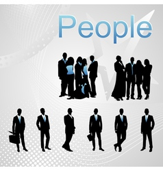 group of people vector image