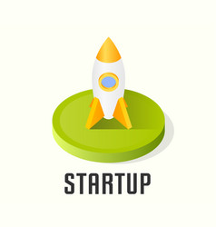 startup icon symbol vector image vector image