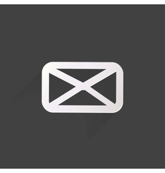 Web letter iconflat design vector image