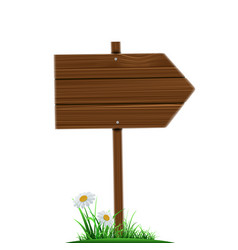 wooden direction pointer road sign isolated on a vector image vector image
