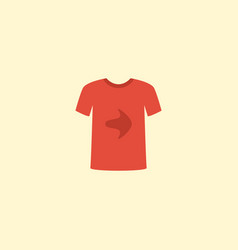 flat icon t-shirt element of vector image