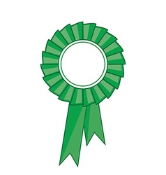 Green award ribbon vector image