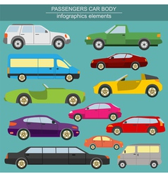 Passenger car transportation infographics vector image