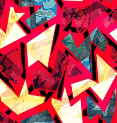 red grunge geometric seamless pattern vector image