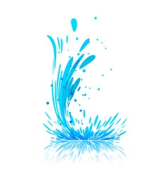 water splash on white vector image vector image
