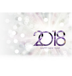 2018 new year gold glossy background vector