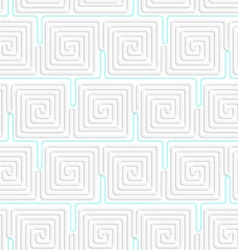 3D white spiral squares with blue vector image