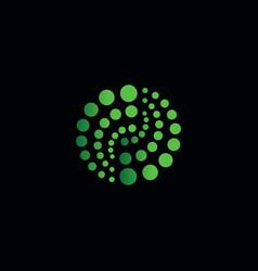 Abstract logo logo green logo circle vector