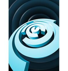 Abstract rotating circles with cut sectors vector image