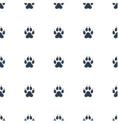 Animal paw icon pattern seamless white background vector