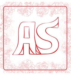 AS monogram vector image