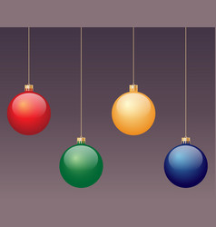 assorted coloured baubles vector image
