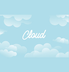 background cloud vector image