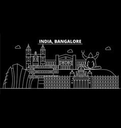 bangalore silhouette skyline india - bangalore vector image