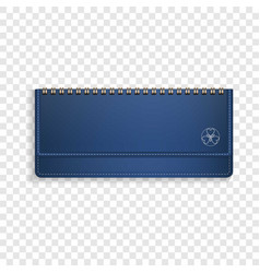 blue horizontal note book icon realistic style vector image