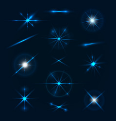 blue light effects collection vector image