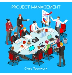 Business Room 01 People Isometric vector image