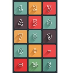 Calculator numbers vector image