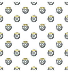 Car disk brake pattern seamless vector