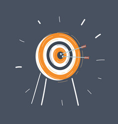 cartoon archery target on vector image